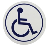 Disabled Cling Sign - Round