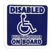 Disabled Cling Sign - Square