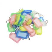 36 Pcs Multicolor Plastic Key ID Label Tags w Split Ring Keyring