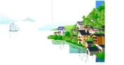 Pema wall sticker multicoloured MF313 beautiful scenery 180 x 94 cm