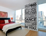 Simple Things of Life, wall decal - 120 x 245 cm | 47.2 x 96.5 in