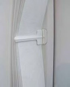 1 x Louvretie Vertical blind Hold back / Tie Back White face fix