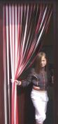 Tube Type Door Curtain,Bug Blind,Fly Blind,Strip Blind-RED & WHITE