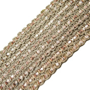 4 Yard Metallic Trim Indian Sari Border Sewing Decorative Ribbon Crafting Lace