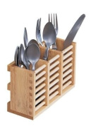 T & G Woodware Cutlery Holder in Hevea Wood for use with Folding Plate Rack 10091