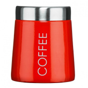 Recorte Madison Coffee Canister Made Of Red Enamel Material & Elegant Desgin