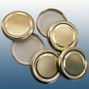 Pack Of 6 Replacement 43mm Twist On Jam Jar Lids - Gold -