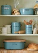 Typhoon Vintage Summer House Blue Tea Coffee Sugar Tins