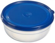 Emsa SUPERLINE 2101084400 Food Storage Box Round Flat 0.8 L Transparent Blue