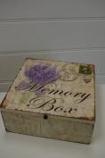 Memory Box Mothers Keepsake Chest Shabby Chic Lavender