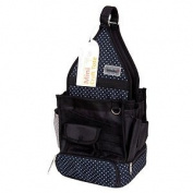 Papermania Deluxe Craft Tote Bag Black Liquorice Dot Hobby Organiser Canvas Case
