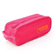 RHX Golf Bowl Shoes Bag Travel Carry Storage Case Box Dustproof Waterproof Rose Red