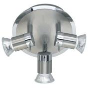 Solent Chrome Finish Halogen Bathroom Ceiling Lights / Lighting with 3 Spotlights IP44