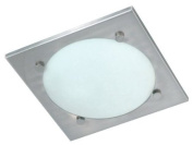 Ranex Vado Wetline Ceiling Light in Brushed Steel and Glass