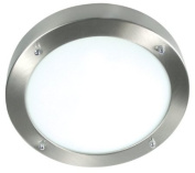 Ranex Verona Wetline Ceiling Light in White Steel and Glass