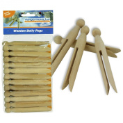 PACK OF 48 QUALITY TRADITIONAL WOODEN DOLLY CLOTHES PEGS FOR WASHING LINES & CRAFT - Lovely Quality