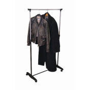 Proteam Single Garment Rack, Black and Chrome