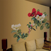 Large Peony Flowers Wall Stickers Home Decor Adhesive Decorative Art Decal Wall Stickers