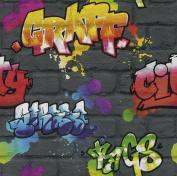 KIDS CLUB 2014 GRAFFITTI MULTICOLOR WALLPAPER 237801