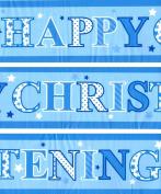 Party Celebration Banner - Happy Christening Boy