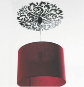 Ceiling Light Art Decal Wall Stickers for . Home Classic Black