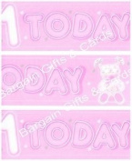 Party Celebration Banner - Age 1 Girls 1st Birthday, 1 Today