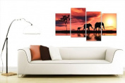 Large Africa Sunset Elephants Canvas Wall Art Pictures Prints XL 4102
