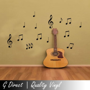 54 Musical Notes Wall Stickers for Home Car Bedroom Kitchen Vinyl Decal Transfer