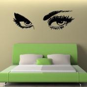 Giant Eyes Wall Sticker / Decal - Black - W141 x H45