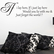 Snow Patrol If i lay here Quote Wall Sticker Decal - Bedroom Wall Art