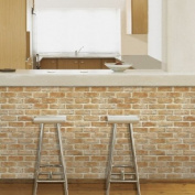 Decowall-HWP-21212, Brick Effect Self Stick Wallpaper, 50cm(W) X 2.5m(L), Sticky back Plastic/ Self adhesive Wallpaer/Self-adhesive vinyl wallpaper/Prepasted wallpaper/Self adhesive wall covering/wallpaper stickers.