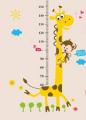 Growth Chart, MONKEY And Giraffe Height Growth Chart Large Wall Stickers
