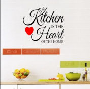 'The kitchen is the heart of the home' vinyl decal sticker