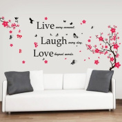 Walplus Huge Flowers Blossom Butterflies Children Girl Wall Stickers Mural Paper Quote