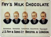 Fry's Milk Chocolate - Frys 5 Boys - Mini Metal Wall Sign