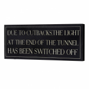 Cutbacks Wooden Wall Plaque