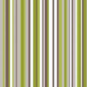 Sophia Lime Green Stripe Room Set Wall Paper - Arthouse