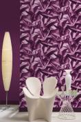 Purple - F72906 - 3D Gathered Silk Effect - Crushed Velvet - Muriva Wallpaper