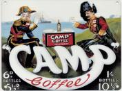 Camp Coffee - Mini Metal Wall Sign