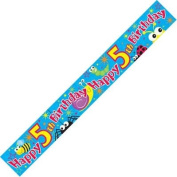 Party Banner Happy 5th Birthday Banner 2.6m