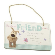 Boofle Wooden Hanging Plaque - Bestest Friend Ever