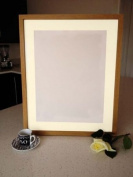 """Frames by Post 18mm wide Rio Oak Picture Photo Frame with Ivory Mount 20""""X16"""" for Pic Size A3"""