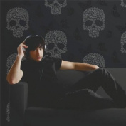 Black / Silver - J21809 - Skulls Tattoo Butterflies Flowers - Muriva Wallpaper