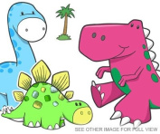 CUTE DINOSAURS stickers - LARGE