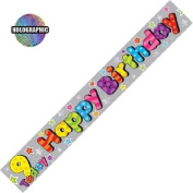 Party Celebration Banner - Age 9 9th Birthday 9 Today
