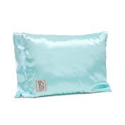 Little Giraffe Satin Nap Pillow, Aqua, 25cm x 33cm