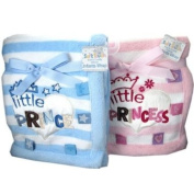 Gorgeously soft little Prince & Princess blankets by Soft Touch