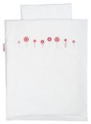 Taftan Crochetted Flowers Duvet Cover Set 100 x 135cm for Cot