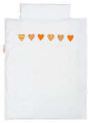 Taftan Hearts Cheques Duvet Cover Set 100 x 135cm for Cot