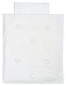 Taftan Hearts Velvet Rayon Pink Duvet Cover Set 100 x 135cm for Cot